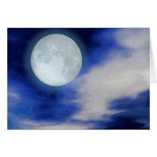 Cielo nocturno con la luna y las nubes tarjeta pequeña