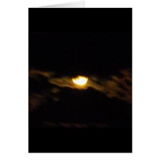 Cielo nocturno de agosto tarjeta de felicitación