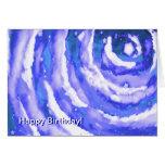 Cielo nocturno del azul de la tarjeta de cumpleaño