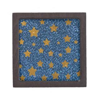 Cielo nocturno del brillo caja de joyas de calidad