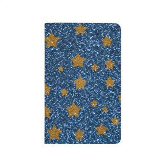 Cielo nocturno del brillo cuadernos