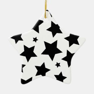 Cielo nocturno del efecto de la estrella múltiple adorno navideño de cerámica en forma de estrella