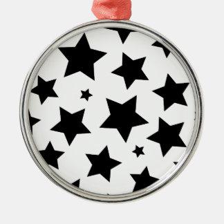 Cielo nocturno del efecto de la estrella múltiple adorno navideño redondo de metal