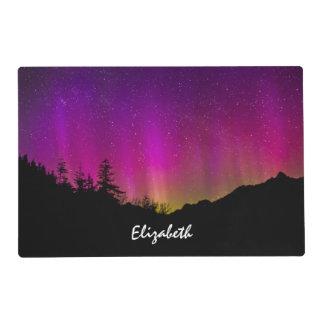 Cielo nocturno estrellado de Borealis de la aurora Salvamanteles