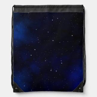 Cielo nocturno estrellado oscuro mochilas