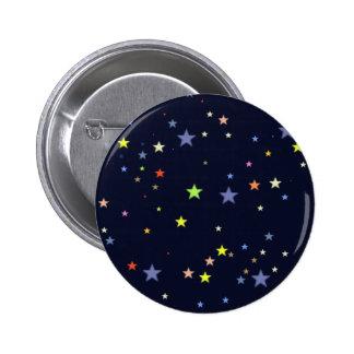 cielo nocturno estrellado pin redondo 5 cm