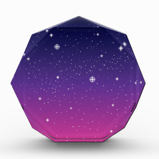 Cielo nocturno estrellado púrpura oscuro