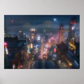 Cielo nocturno grande del héroe 6 póster