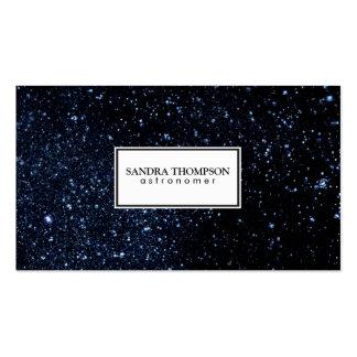 Cielo nocturno/marco blanco tarjetas de visita