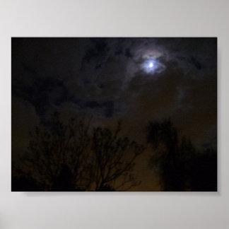 Cielo nocturno misterioso póster