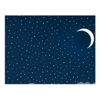 Cielo nocturno nublado postales