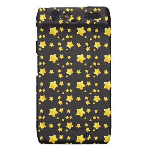 Cielo nocturno oscuro con el modelo de estrellas motorola droid RAZR fundas