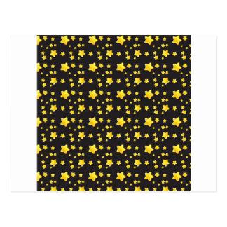 Cielo nocturno oscuro con el modelo de estrellas postales