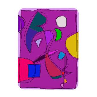 Cielo nocturno púrpura imán flexible