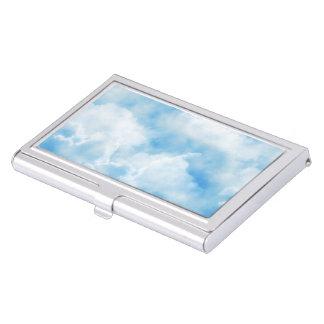 Cielo nublado caja de tarjetas de visita