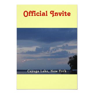 """Cielo nublado del lago Cayuga Invitación 5"""" X 7"""""""