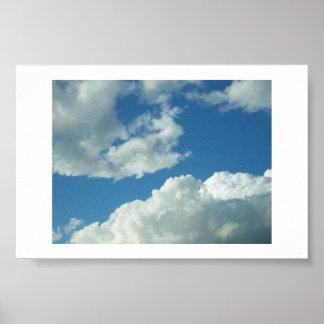 Cielo nublado poster