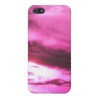 Cielo nublado rosa iPhone 5 fundas