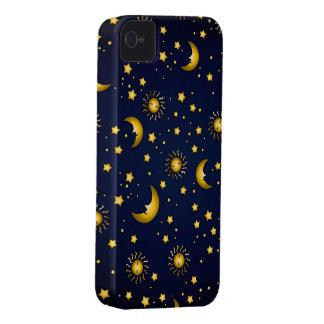 Cielo oscuro: Azul marino Case-Mate iPhone 4 Fundas