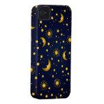 Cielo oscuro: Azul marino iPhone 4 Case-Mate Fundas
