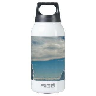 Cielo para arriba para arriba y lejos botella isotérmica de agua