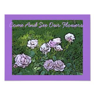 """Cielo pintado en rosaleda de la tierra invitación 4.25"""" x 5.5"""""""