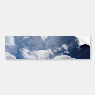 Cielo profundo azul marino etiqueta de parachoque