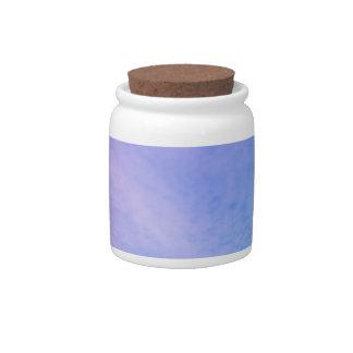 Cielo púrpura/azul jarra para caramelo