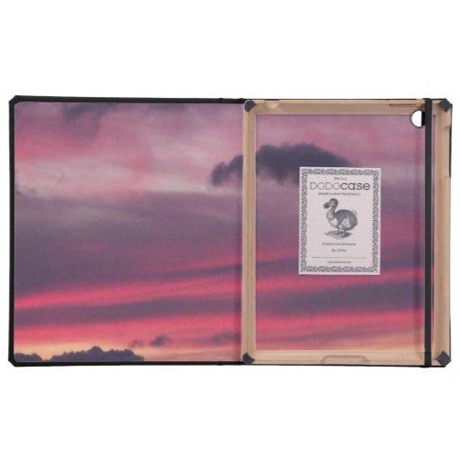 Cielo púrpura iPad cárcasas