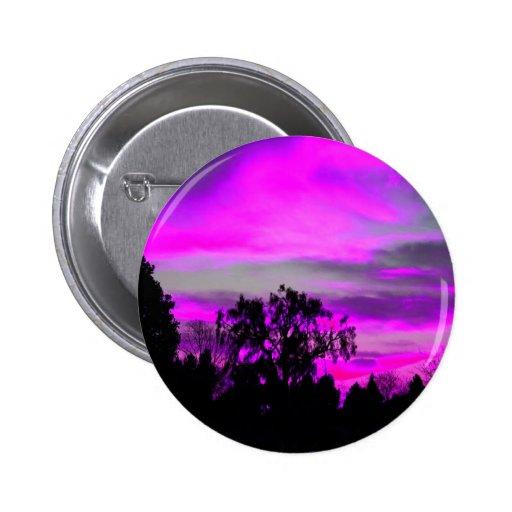 Cielo púrpura pin redondo 5 cm