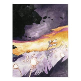 cielo púrpura tarjeta postal
