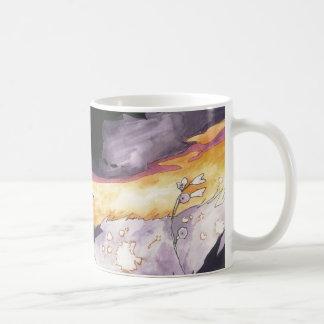 cielo púrpura taza básica blanca