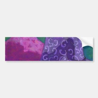 Cielo púrpura y magenta del escondite asombroso - pegatina de parachoque