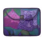 Cielo púrpura y magenta del escondite caprichoso - funda para macbook pro
