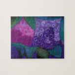 Cielo púrpura y magenta del escondite caprichoso - puzzle