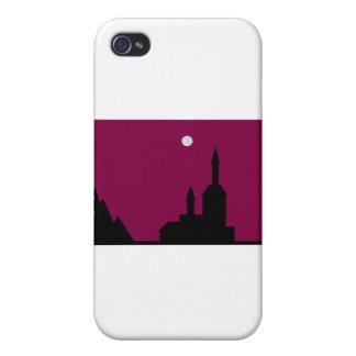 Cielo rojo en la línea de la noche iPhone 4 carcasa