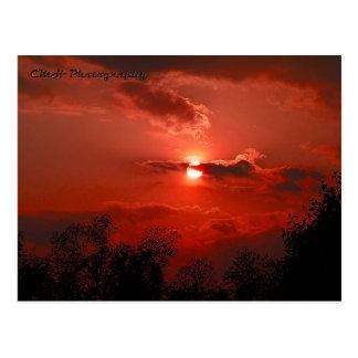 Cielo rojo postales
