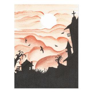 Cielo rojo sangre tarjetas postales