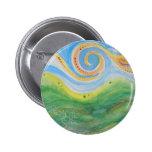 Cielo Rolling Hills de Swirly de la insignia Pins