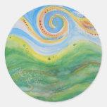 Cielo Rolling Hills de Swirly de los pegatinas