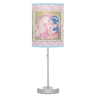 Cielo rosado del cervatillo lámpara de mesa