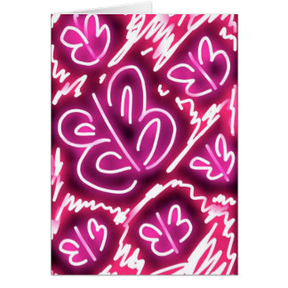 """""""Cielo rosado en tarjeta de cumpleaños caprichosa"""