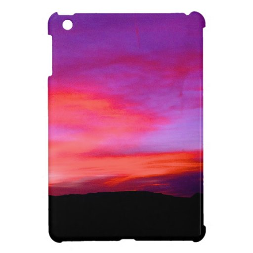 cielo rosado y púrpura iPad mini carcasas