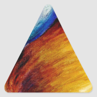 Cielo salvaje pegatina triangular