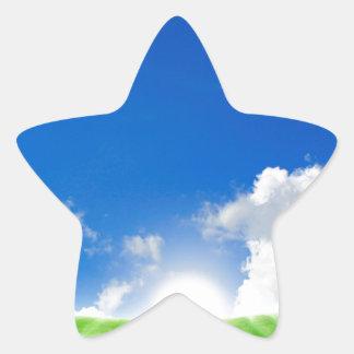 Cielo Scape irreal Pegatina En Forma De Estrella