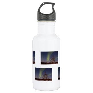 Cielo septentrional colorido botella de agua