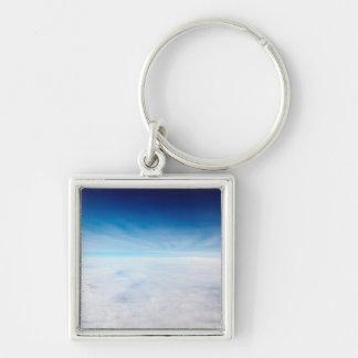 Cielo sobre las nubes llaveros personalizados