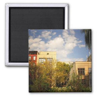 Cielo sobre un jardín en la ciudad del alfabeto, E Imanes De Nevera