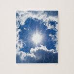 cielo, sol y nubes rompecabezas