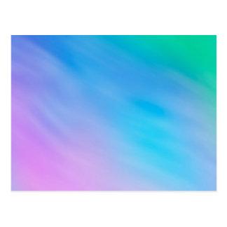 Cielo suave femenino del arco iris tarjeta postal